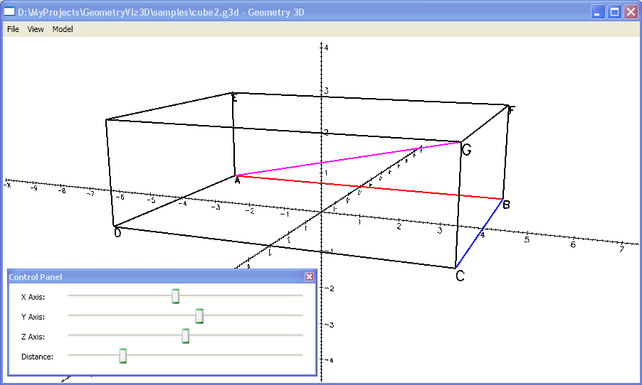 Drawing Lines In Wpf C : A tool for visualizing d geometry models part