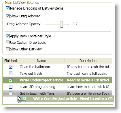 Drag and Drop Items in a WPF ListView - CodeProject