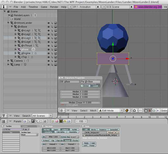 Newton Game Dynamics Extensions for the WPF - The Moon Lander Game