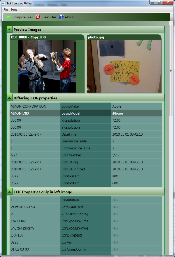 EXIF Compare Utility using WPF - CodeProject