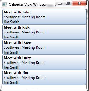 calendar layout