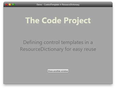 reusing control templates in resource dictionaries codeproject