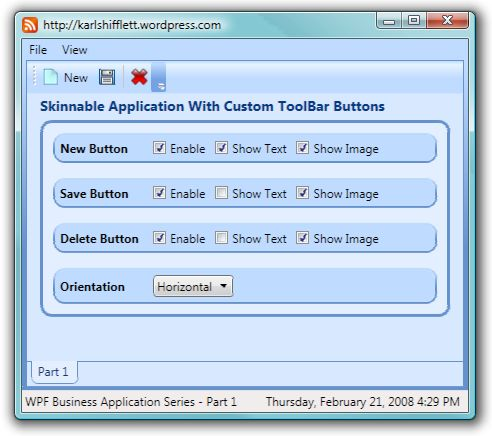 wpf ui templates - wpf business application series part 1 of n application
