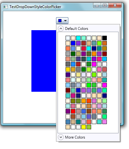 Making A Drop Down Style Custom Color Picker In Wpf
