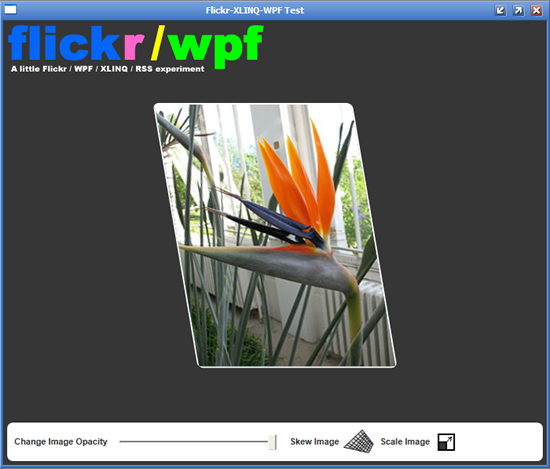 WPF Flickr Viewer Using XLINQ - CodeProject