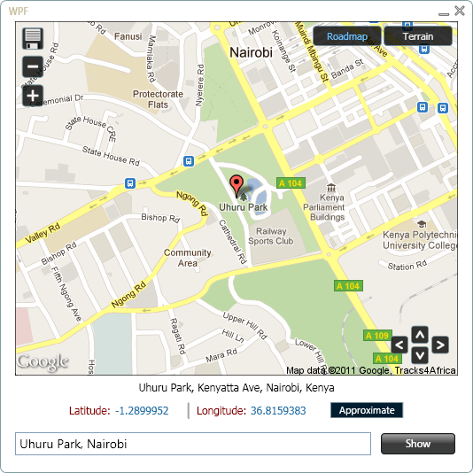 WPF Map App: WPF Meets Google Geocoding and Static Maps APIs ... Map Apis on satellite map images with missing or unclear data, route planning software, google latitude, yahoo! maps, nokia maps, bing maps, bing maps platform, web mapping, google earth, google map maker,