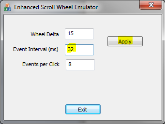 Enhanced Scroll Wheel Emulator