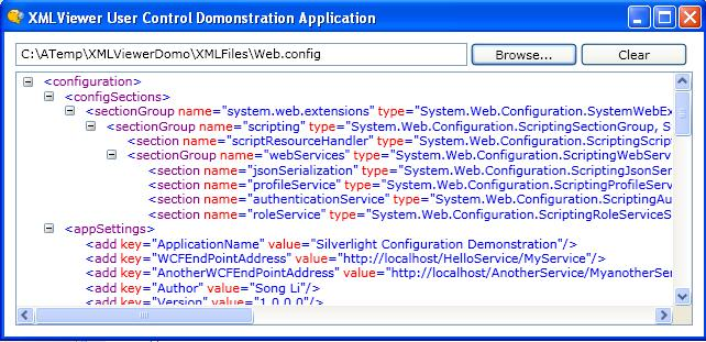 a simple wpf xml document viewer control