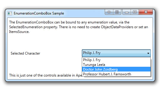 Funky WPF - Enumerations and Combo Boxes - CodeProject