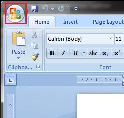 Microsoft Office Word Screenshot