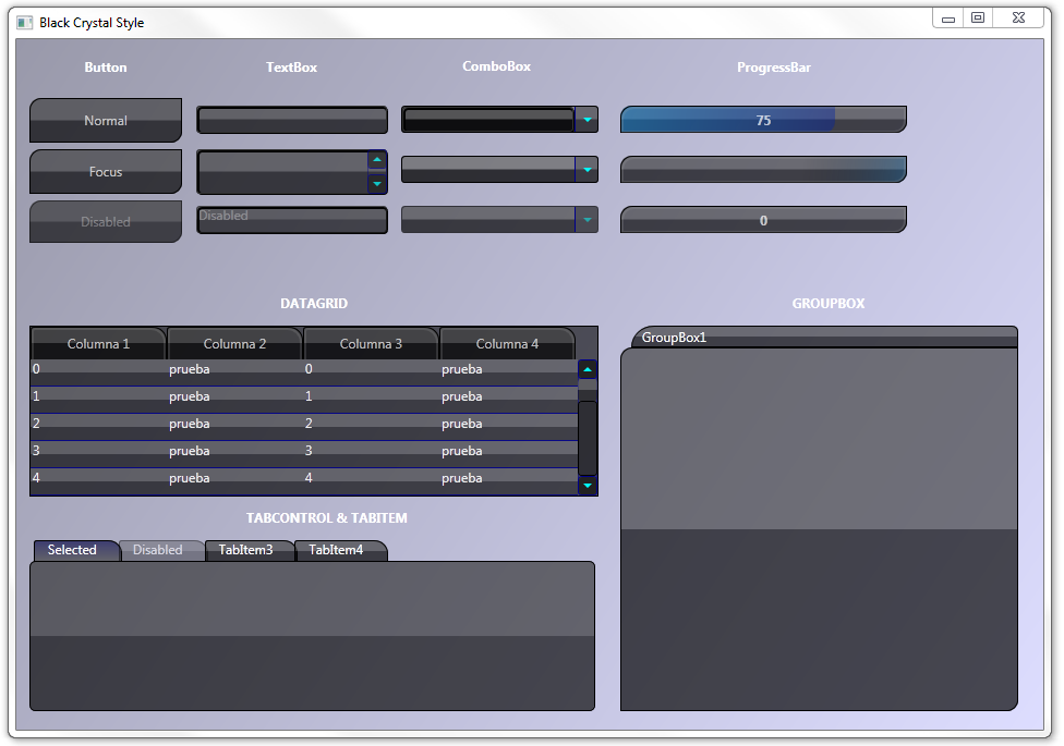 wpf datagrid control template - wpf customize your application with styles and control