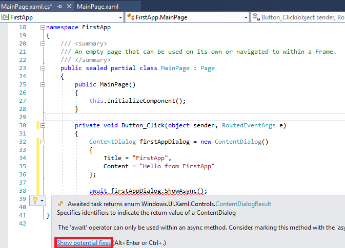 visual studio helper
