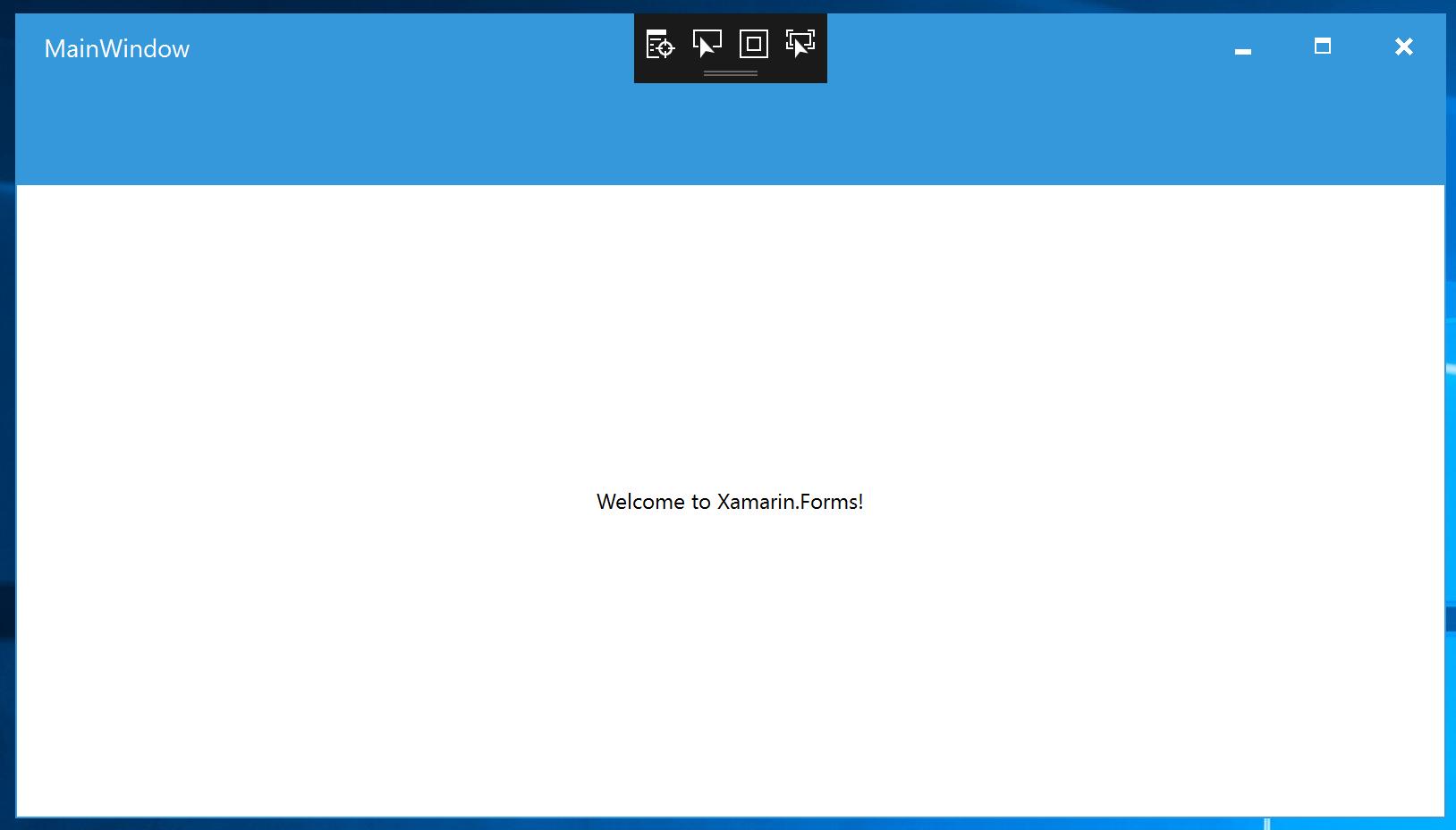 XF 3 0 New Feature: Create WPF Application using Xamarin