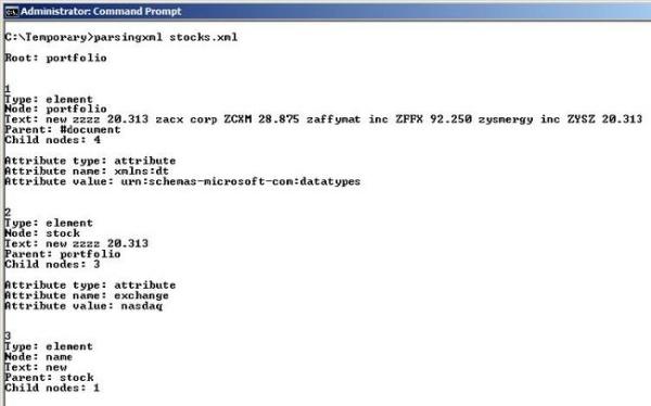 parsing an xml file in a c  c   program