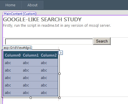 google like search in asp.net