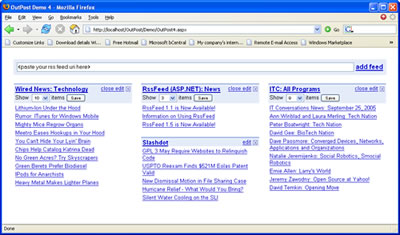 A screenshot of The iGoogle Demo