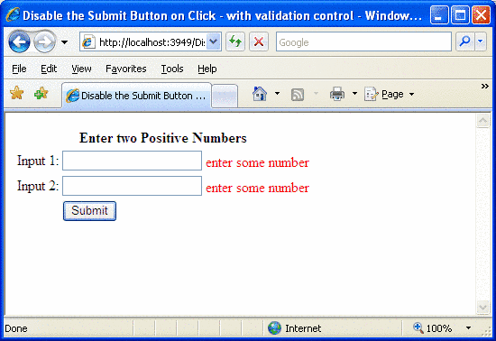 Disable an asp net button control during postback with an for Window onload javascript