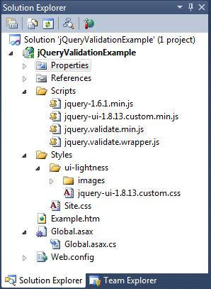 An Example Of Using The Jquery Validation Plug In Codeproject