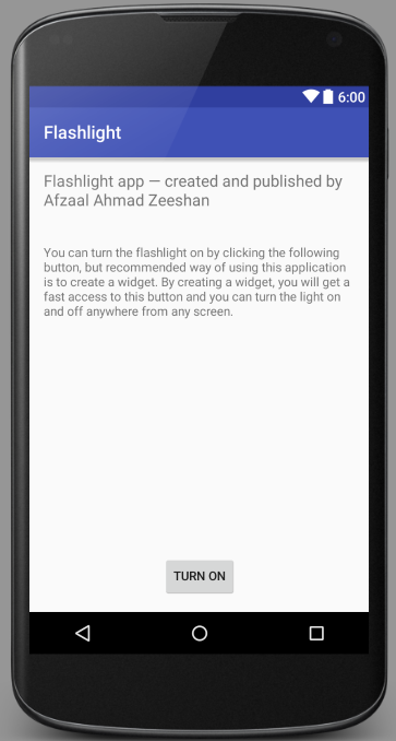 App for consuming Android flashlight with a widget - CodeProject