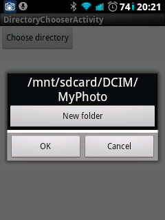 Android: Ready to use simple directory chooser dialog with