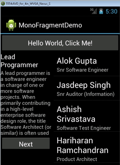 MonoAndroid: Using Fragments in mobile app - CodeProject