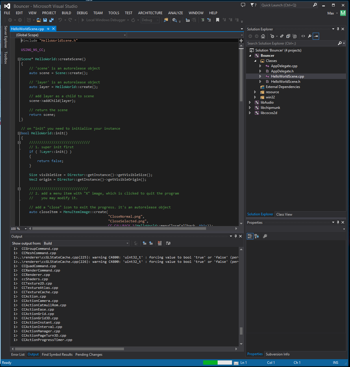 Writing games with c for android on a pc setting up codeproject opening the project in visual studio baditri Choice Image