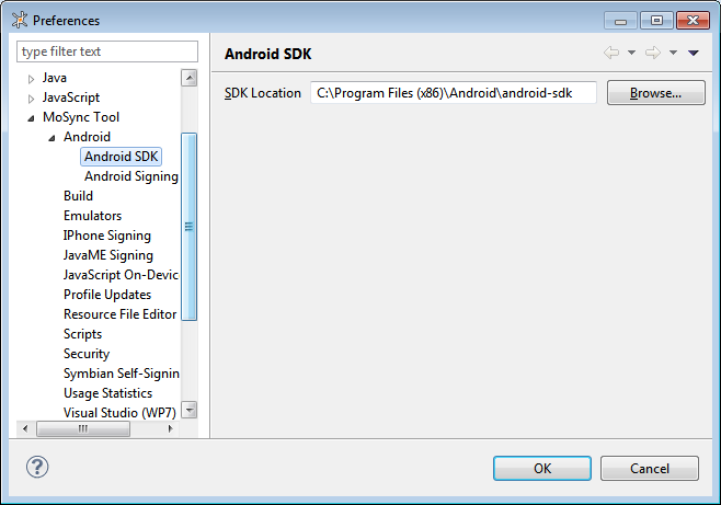 Installing MoSync for Android (and other mobile platforms
