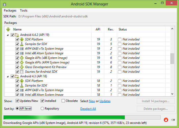 how to run android sdk manager in eclipse