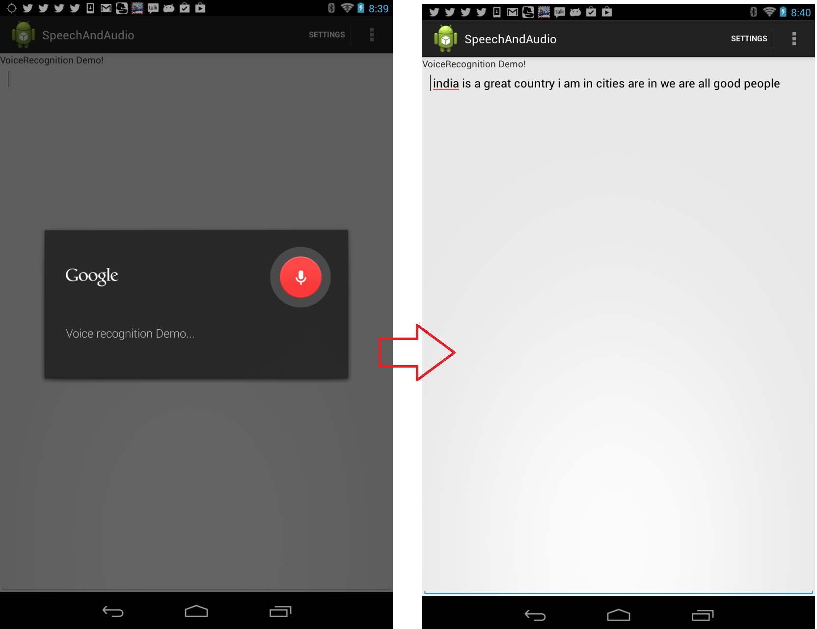 A Beginners Guide To Working With Speech And Audio In Android Recorder Voice Recognition