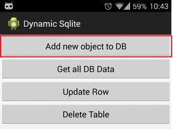 Android dynamic Sqlite database management v 2 - CodeProject
