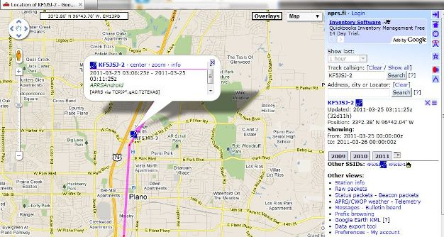 Creating an APRS Tracker & Automated Camera with an Android Phone