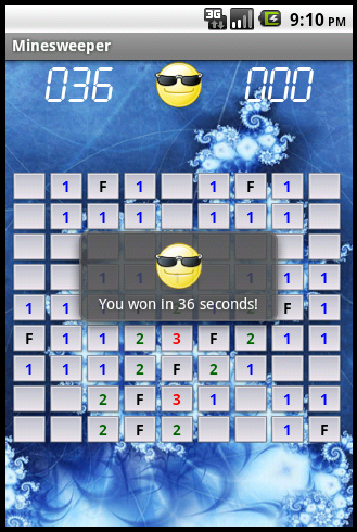 Minesweeper - Game won screenshot