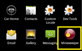 Minesweeper icon in Launcher Window