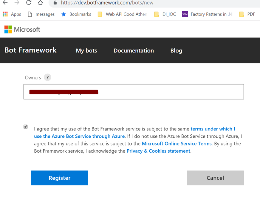 Your First Chatbot using Microsoft's Bot Framework and