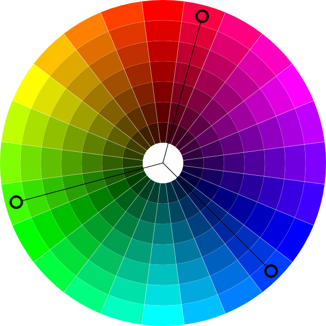 In The Left Color Wheel As One With Normal Vision Sees It