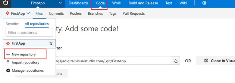 Using Visual Studio Team Services (VSTS) and Git with VS 2017