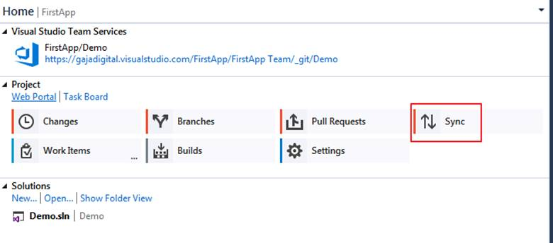 Using Visual Studio Team Services (VSTS) and Git with VS