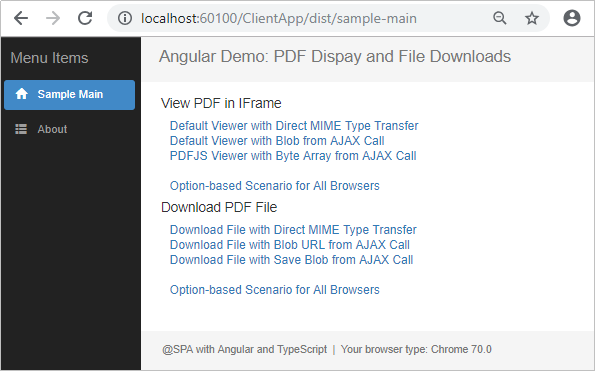 PDF Document Display and File Downloads with Angular