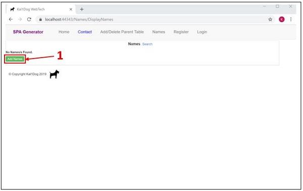 Instant Low Code Database Web App - ASP NET Core 3 1 Single