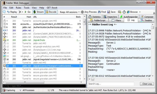 Debug / Inspect WebSocket traffic with Fiddler - CodeProject
