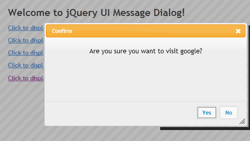 JQuery Message Box Plugin - CodeProject