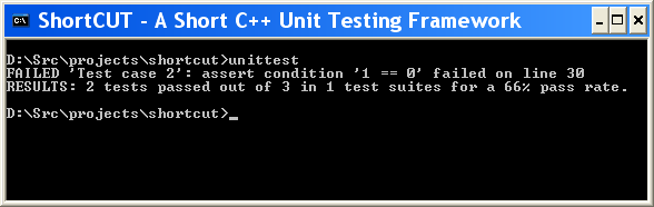 Unit test console output