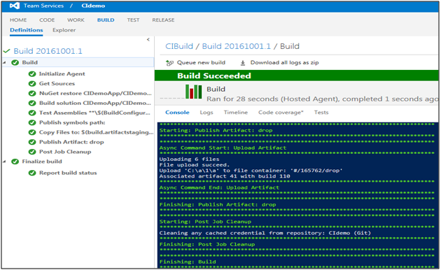 Continuous Development and Integration with Git, TFS, Nuget