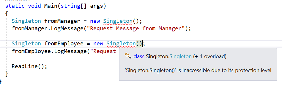 Singleton Design Pattern In C Part 40 CodeProject New Singleton Pattern C