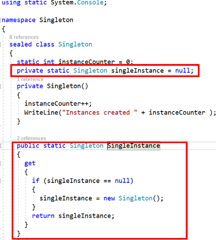 Singleton Design Pattern In C Part 40 CodeProject Simple Singleton Pattern C