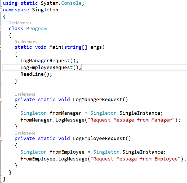Singleton Design Pattern In C Part 40 CodeProject Enchanting Singleton Pattern C