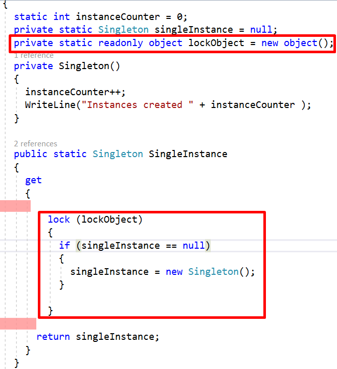 Singleton Design Pattern In C Part 40 CodeProject Adorable Singleton Pattern C