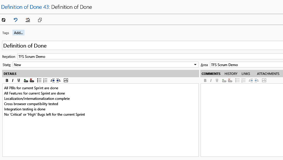 Scrum Definition of Done and Team Foundation Server