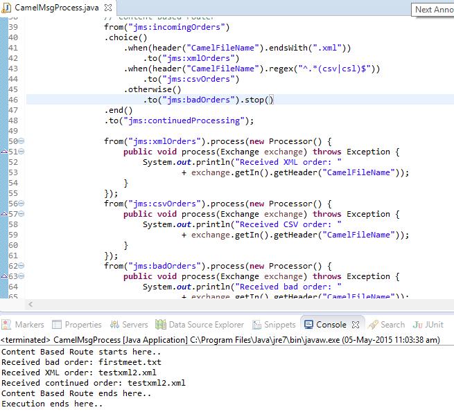 Enterprise Application Integration using Apache Camel