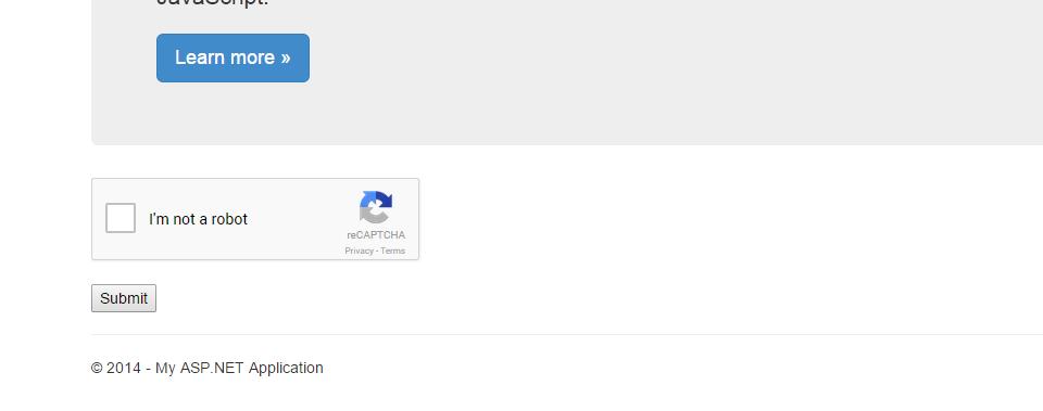 Google reCAPTCHA in ASP NET MVC - CodeProject